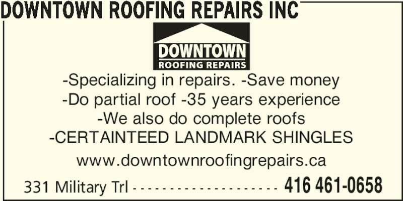 Ads Downtown Roofing Repairs Inc