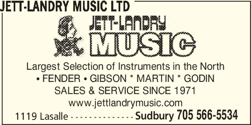 Jett Landry Music Ltd Sudbury On 1119 Lasalle Blvd