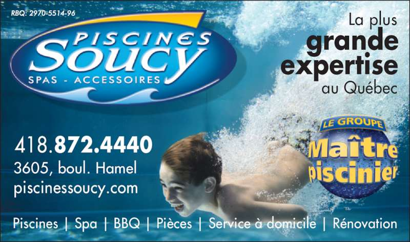 Piscine soucy qu bec qc 3605 boul wilfrid hamel for Chauffe piscine express
