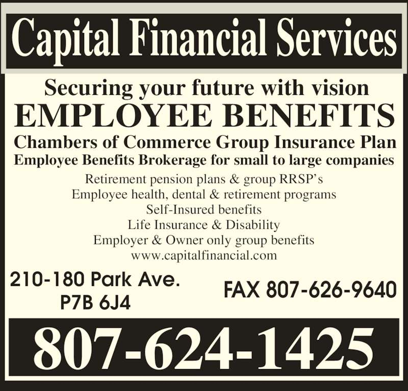 Capital Financial Services - Opening Hours - 210-180 Park Ave