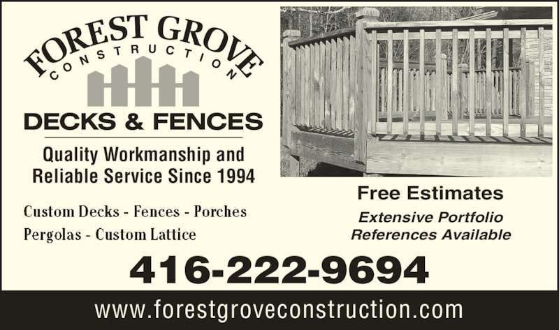 Forest Grove Construction Canpages