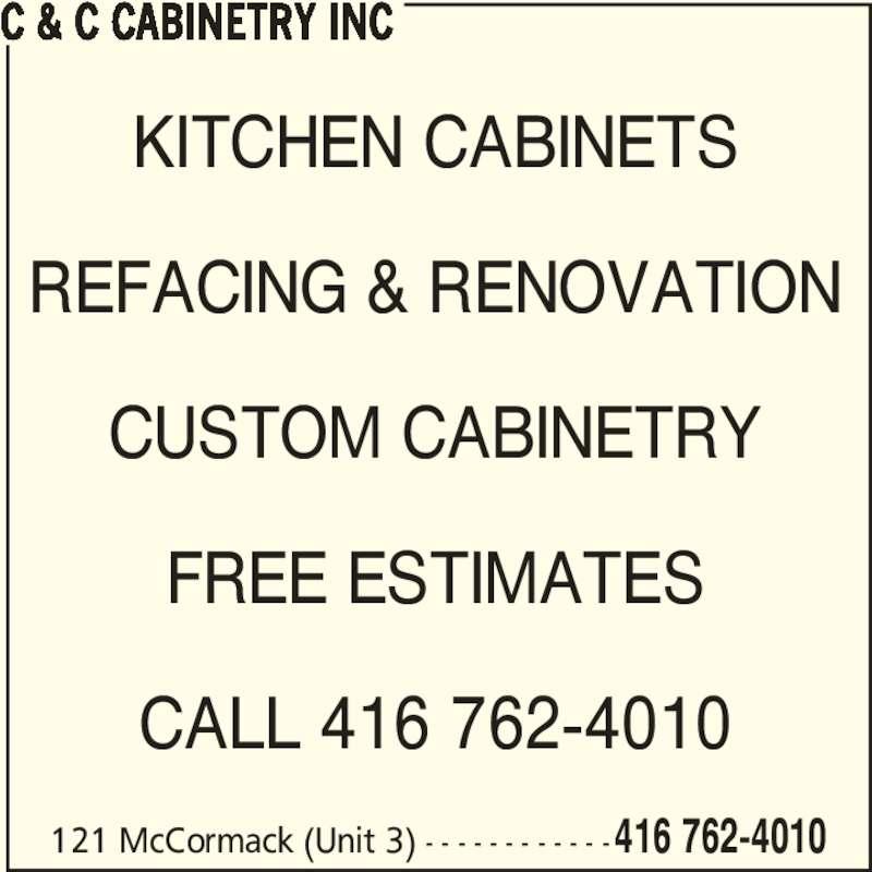 ad C&C Cabinetry Inc