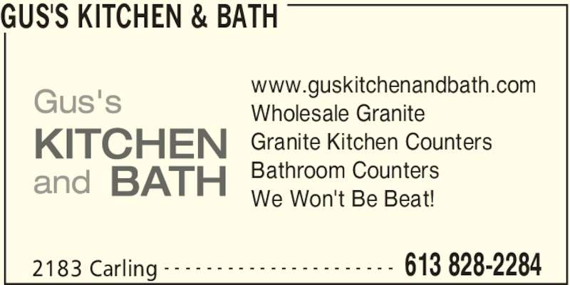 Gus 39 S Kitchen Bath Ottawa On 2183 Carling Ave Canpages