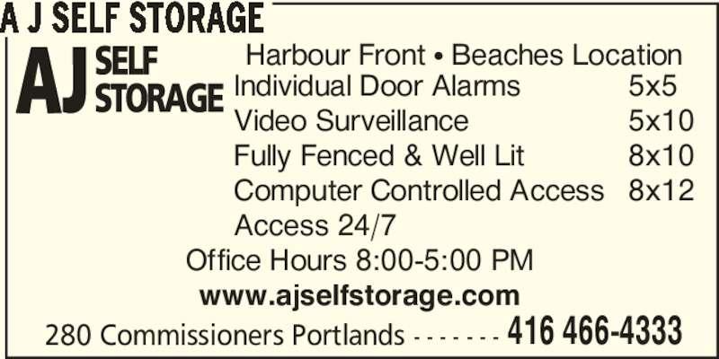 Ads A J Self Storage