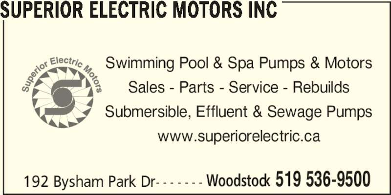 Superior electric motors inc opening hours 192 bysham - Woodstock swimming pool opening hours ...