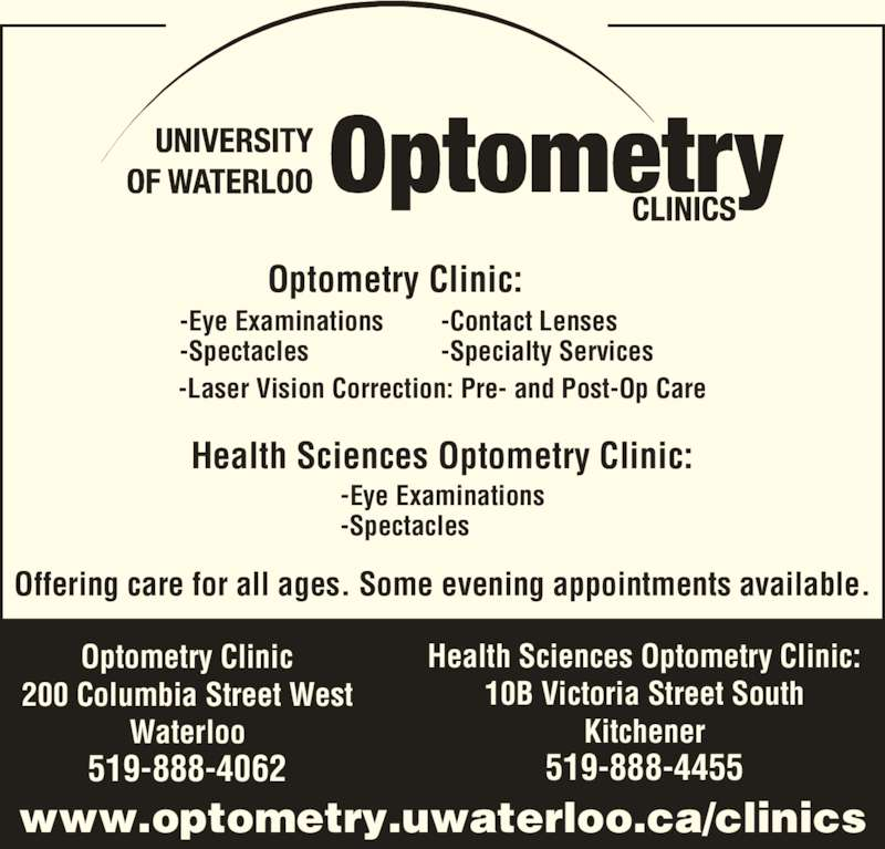 Optometry Clinic Victoria Street Kitchener