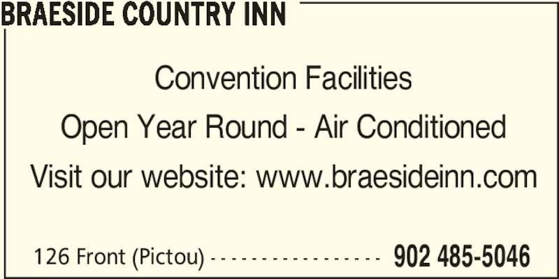 Braeside Inn Accommodations (902-485-5046) - Display Ad -