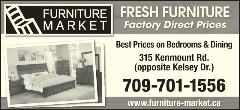 Furniture Market (709-722-6767) - Annonce illustrée======= -
