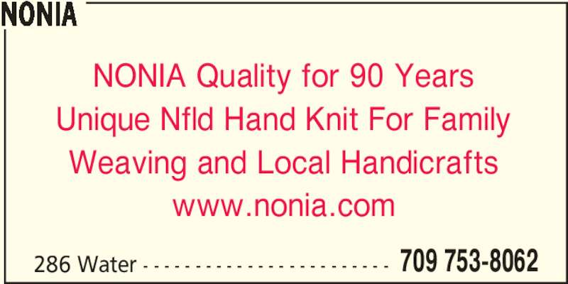 Nonia Handcrafts St John S Nl 286 Water St Canpages