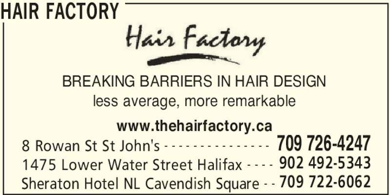 Hair Factory - St John's, NL - 8 Rowan Pl   Canpages