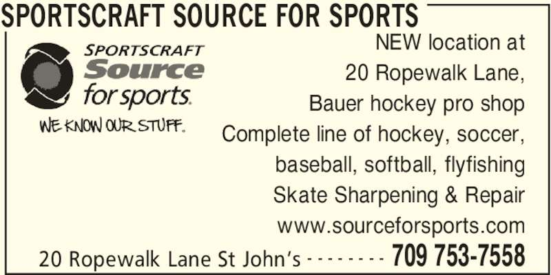 Ads Sportscrafts Source for Sports