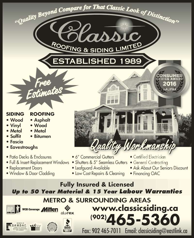 Classic Roofing Amp Siding Limited Dartmouth Ns 11