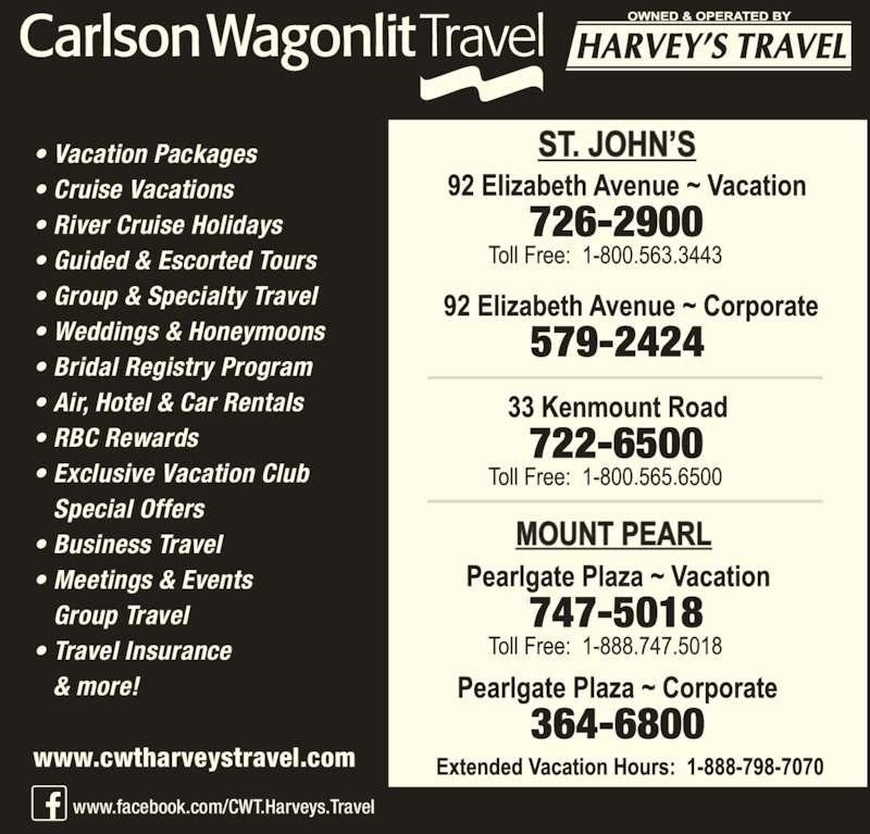 Club Corporate Travel: Carlson Wagonlit Harveys Travel