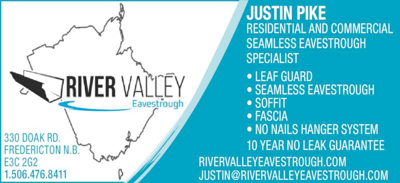 River Valley Eavestrough Inc Opening Hours 330 Doak