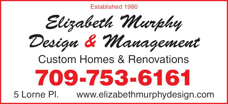 Murphy Elizabeth Interior Design Ltd St John 39 S Nl 5 Lorne Pl Canpages
