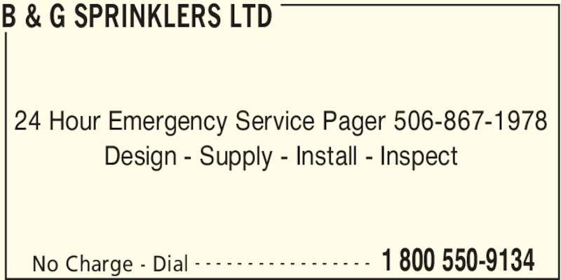 Ads B&G Sprinklers Ltd