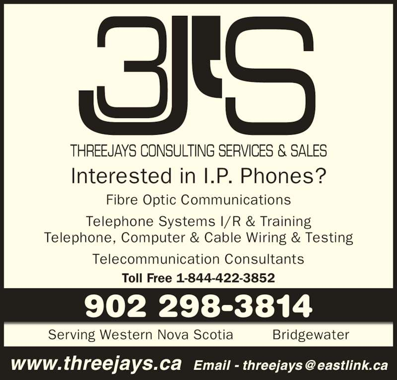 Threejays Consulting Services Amp Sales Bridgewater Ns