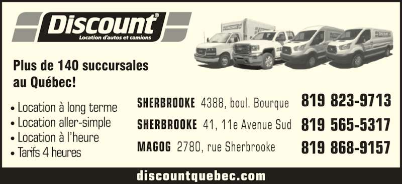 discount location d 39 autos et camions sherbrooke qc 4388 boul bourque canpages fr. Black Bedroom Furniture Sets. Home Design Ideas