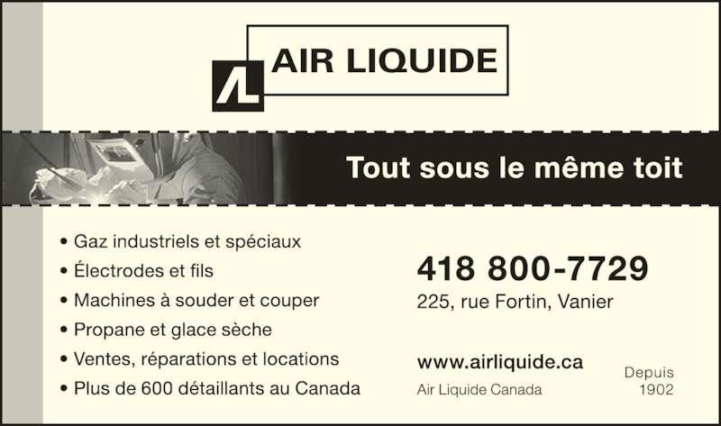 Air Liquide Canada Inc. (418-683-1917) - Annonce illustrée======= -