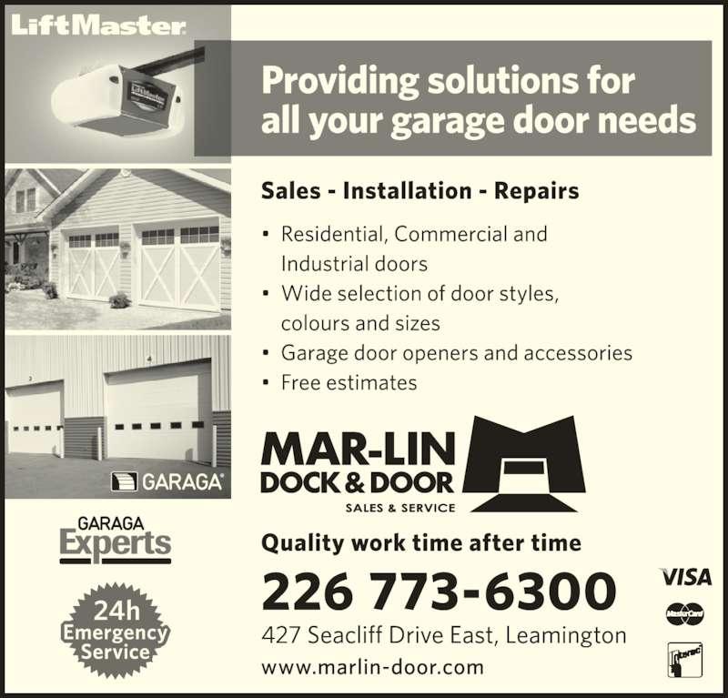 Mar-Lin Dock & Door (519-326-5888) - Display Ad -