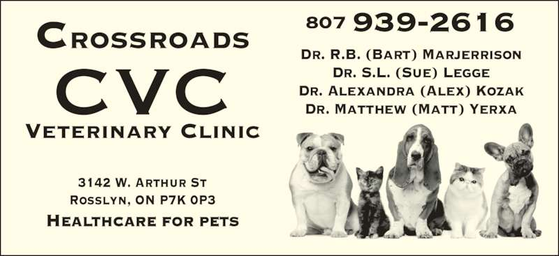 ad Crossroads Veterinary Clinic (CVC)