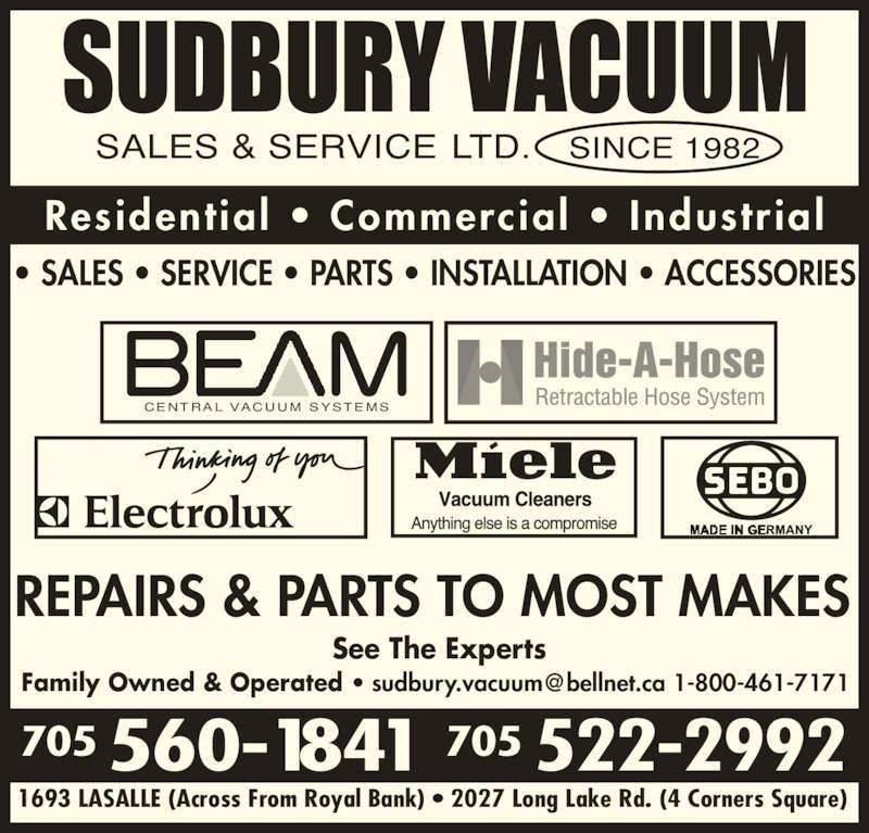 Beam Vacuum Systems Sudbury On 1693 Lasalle Blvd