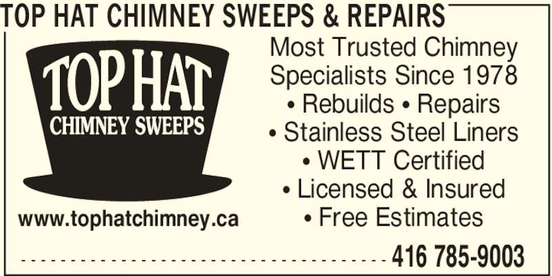 Top Hat Chimney Sweeps Amp Repairs Scarborough On 24