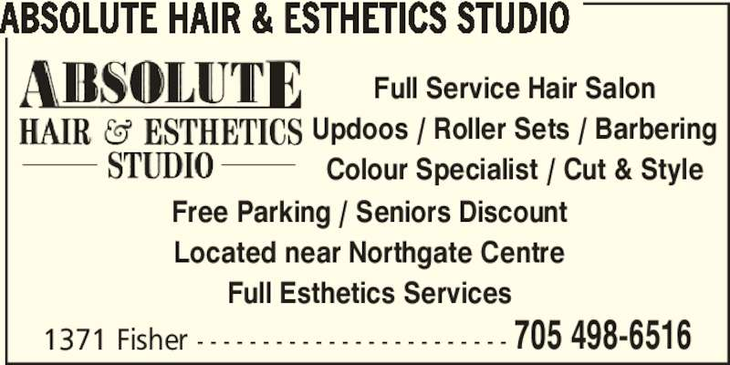 Absolute hair esthetics opening hours a 1371 fisher for Absolute beauty salon