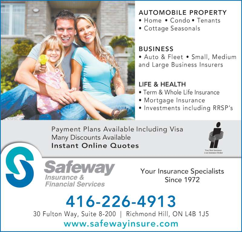 Rbc Home And Auto Insurance Quote: Safeway Insurance & Financial Services
