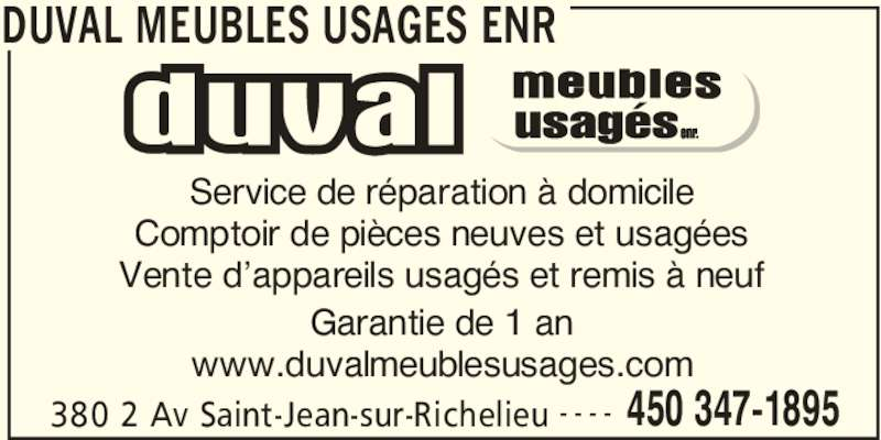 duval meubles usages enr saint jean sur richelieu qc. Black Bedroom Furniture Sets. Home Design Ideas