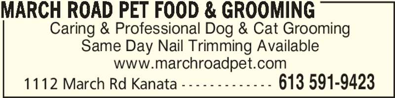 March Road Pet Food Grooming