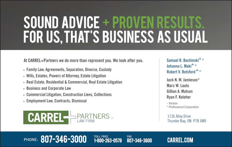 Carrel & Partners LLP (8073463000) - Display Ad -