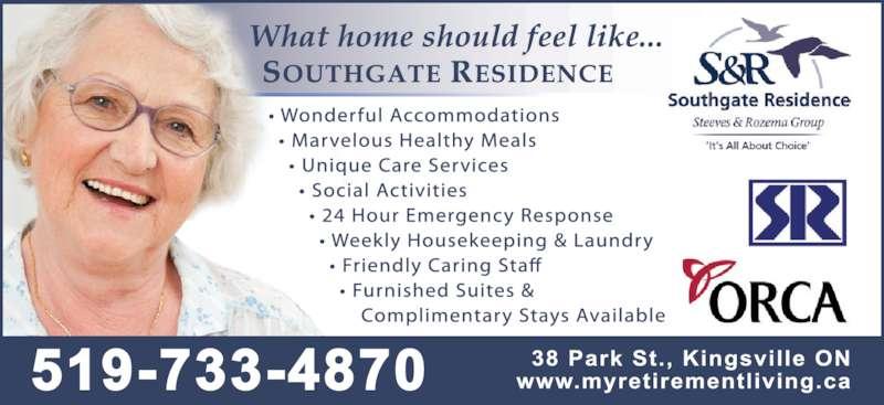 Southgate Residence (519-733-4870) - Display Ad -