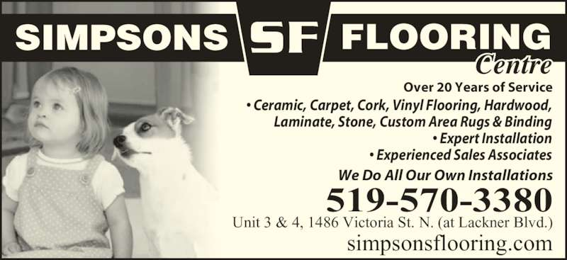 Simpsons Flooring Centre Ltd Opening Hours 1486