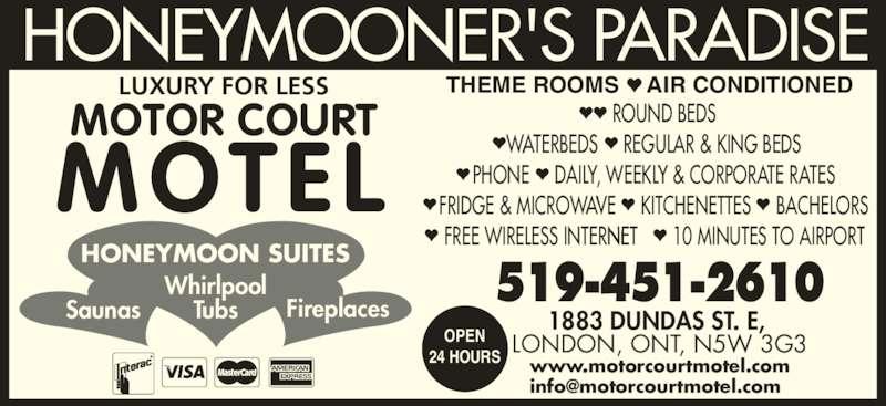Motorcourt Motel (519-451-2610) - Display Ad -