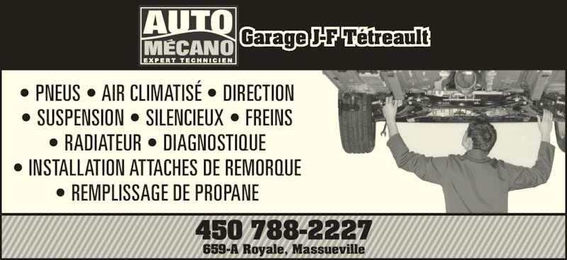 Garage j f t treault massueville qc a 659 rue royale for Garage ad climatisation