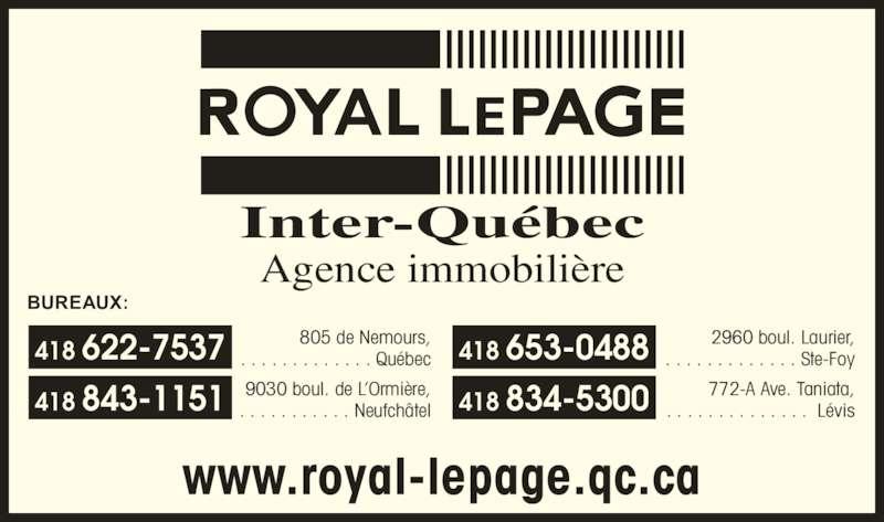 Royal LePage (418-622-7537) - Annonce illustrée======= -