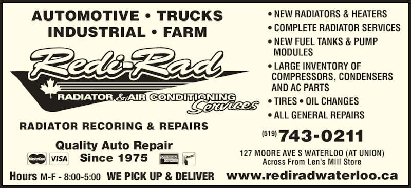 Redi Rad Waterloo Opening Hours 127 Moore Ave S