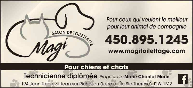 Magi salon de toilettage saint jean sur richelieu qc for Salon de toilettage montreal