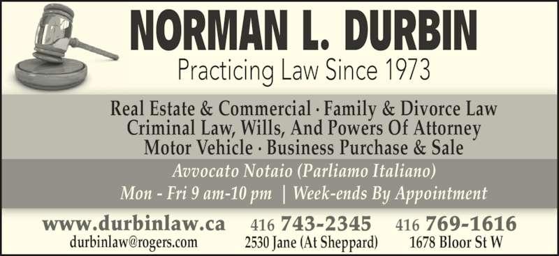 ad Durbin Norman L