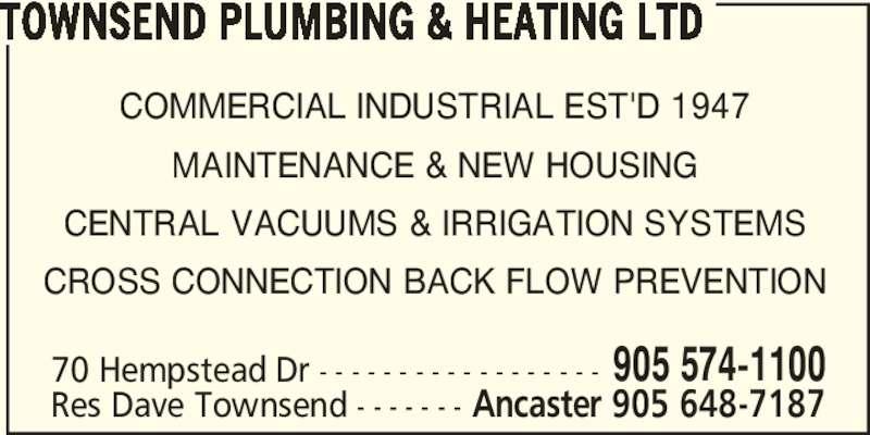 ad Townsend Plumbing & Heating Ltd