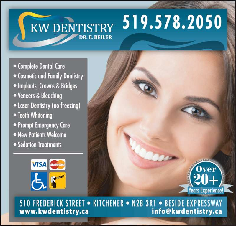 Kw Dentistry Opening Hours 510 Frederick St Kitchener On