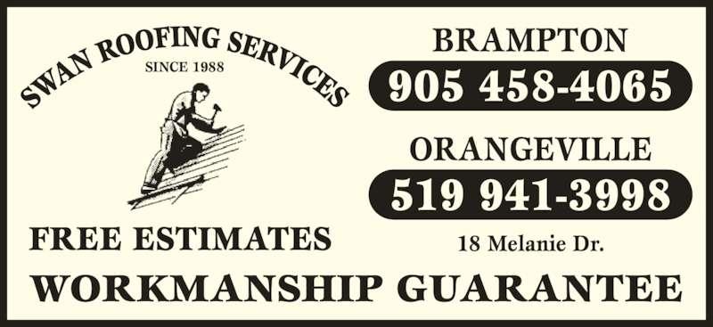 Swan Roofing Services Brampton On 18 Melanie Dr