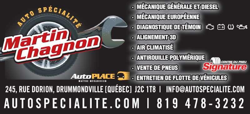 Garage martin chagnon m canique pneus drummondville for Garage ad pneu