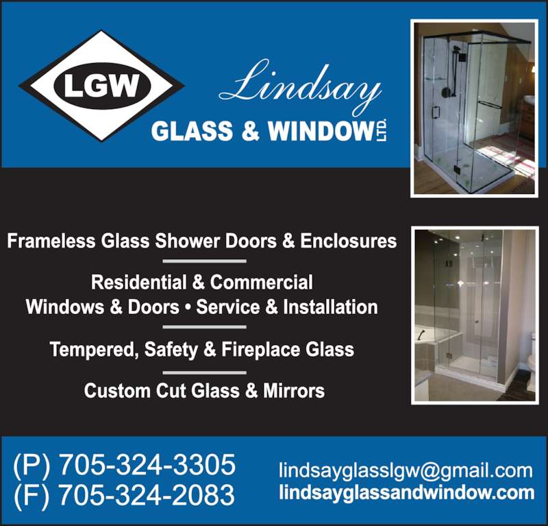 Lindsay Glass & Window Ltd (705-324-3305) - Display Ad -