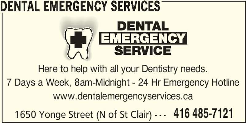 Dental Emergency Services - Toronto, ON - 1650 Yonge St ...