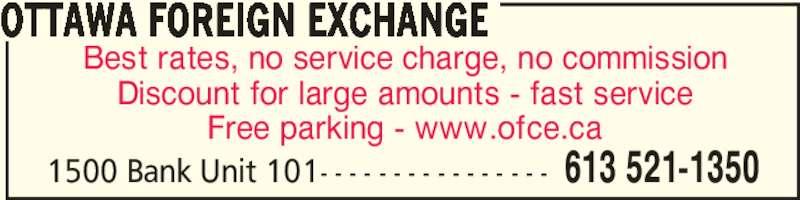 Calforex currency exchange bureau de change ottawa