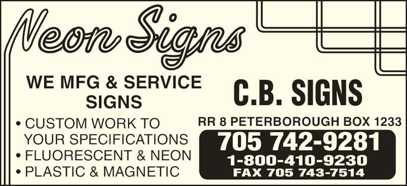 Ads C B Signs