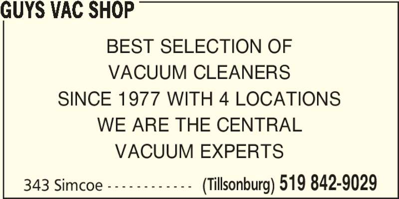 Ads Guy's Vac Shop