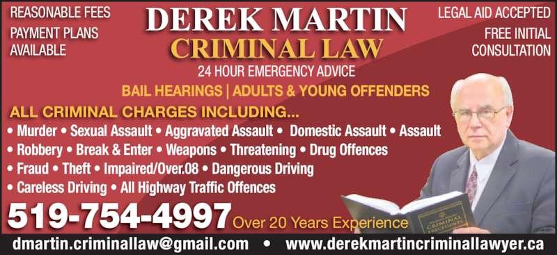 Derek Martin Criminal Law Firm - Brantford, ON - 47 Queen